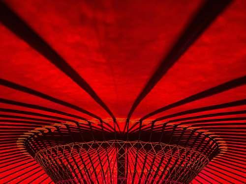 japan red umbrella interior izu