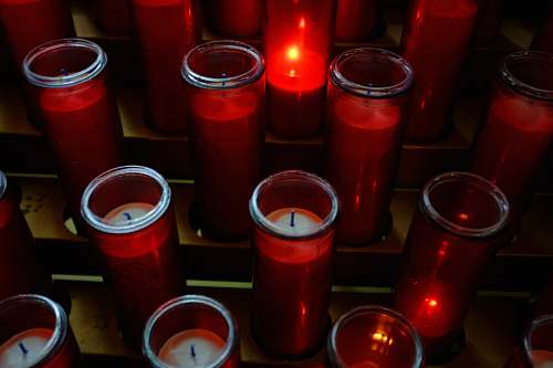 cup red votive candles beverage