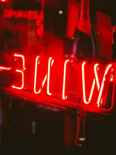 light red wine neon signage neon