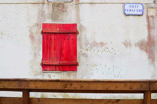 wood red wooden box wall