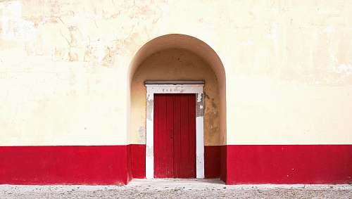 door red wooden door architecture