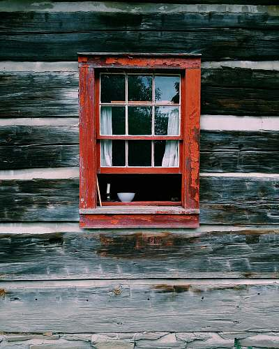 window red wooden window frame wood