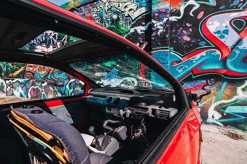 graffiti wall with graffiti cockpit