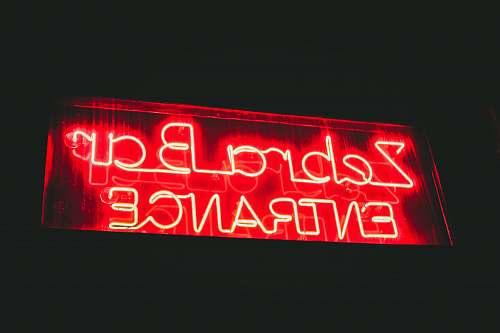 neon Zebra Bar Entrance signage entrance