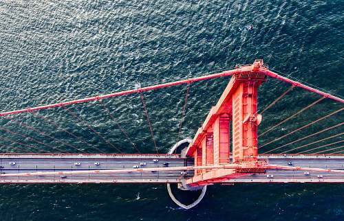san francisco aerial view of Golden Gate Bridge aerial