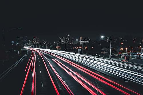 highway time lapse photography of road chicago