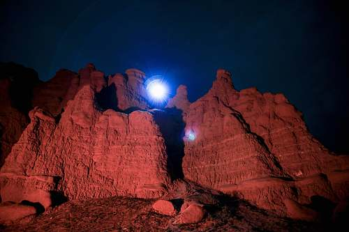mountain red mountains night