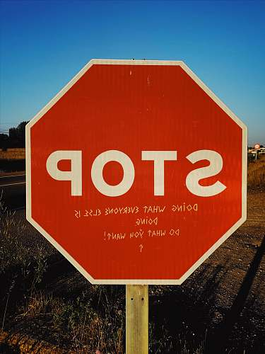 symbol stop signage road sign