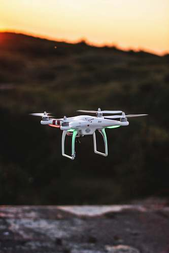 denmark flying quadcopter drone during sunset aircraft