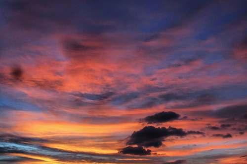 sunrise golden hour with blue sky sunset