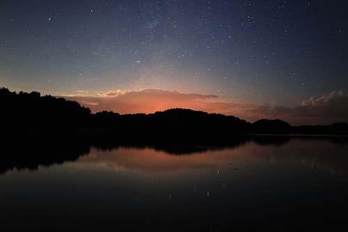 nature reflection photo of trees lake