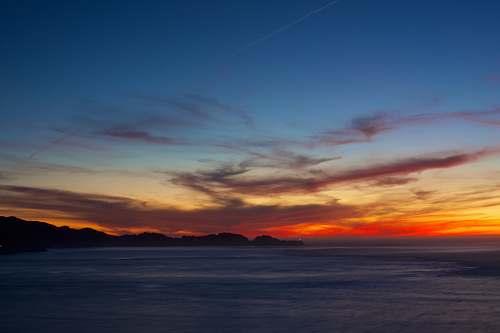 dawn sunset over the horizon dusk