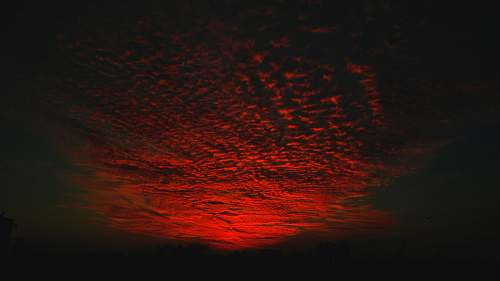 sunset time lapse photography of red cloud wallpaper dawn