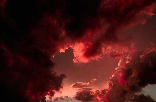 sunset clouds during sunset sky