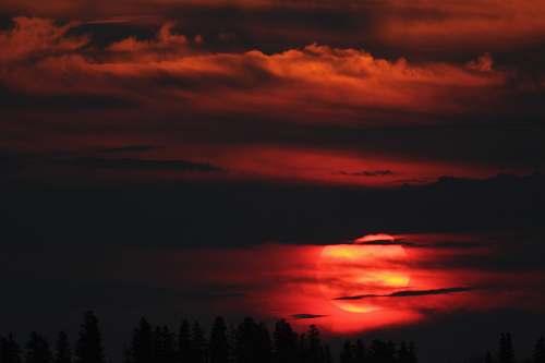 sunset golden hour dawn