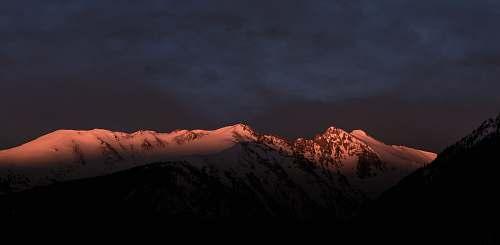 mountain landscape photograph of mountain alps mountain range