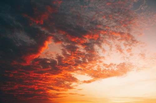sky cumulus clouds sunrise
