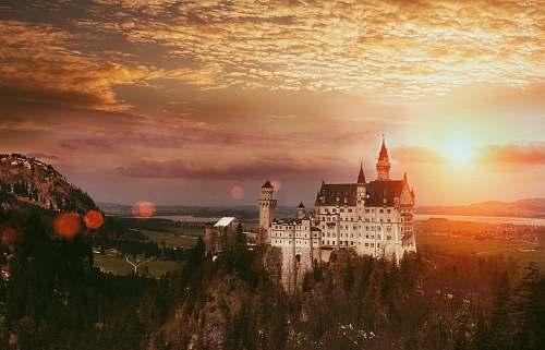 sunrise Neuschwanstein Castle castle