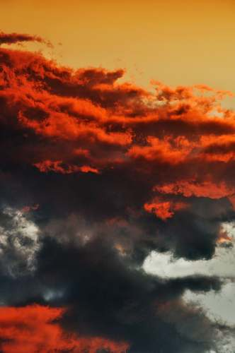 nature red and black clouds sky