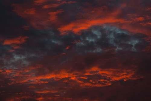 sky red clouds sunrise