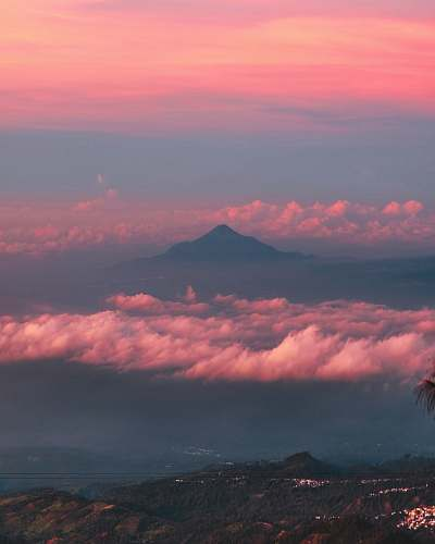 sunrise sea of clouds during golden hour sky