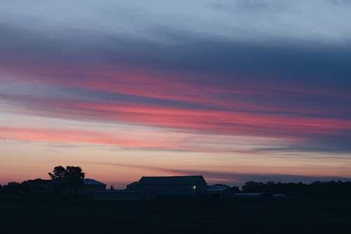 sky silhouette of house photography sunrise