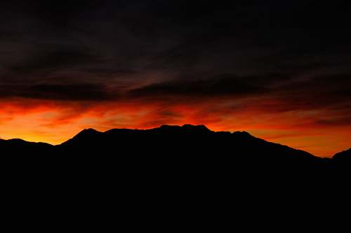 sunrise silhouette of mountain during sunset sky