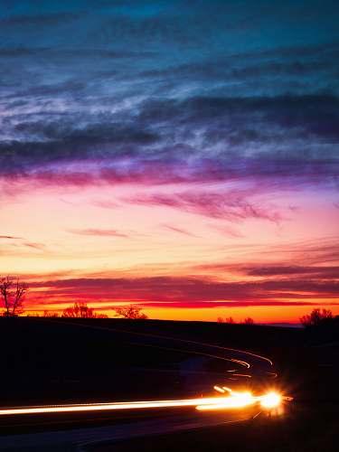 sunrise time lapse road shot sky