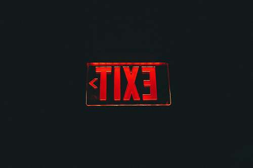 logo red Exit signage trademark