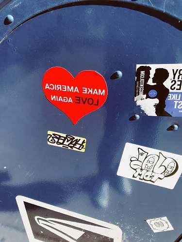 label Make America Love Again heart sticker sticker