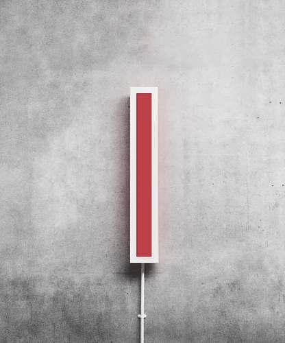 alphabet rectangular red and white case symbol