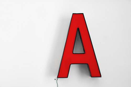 alphabet red letter a logo red