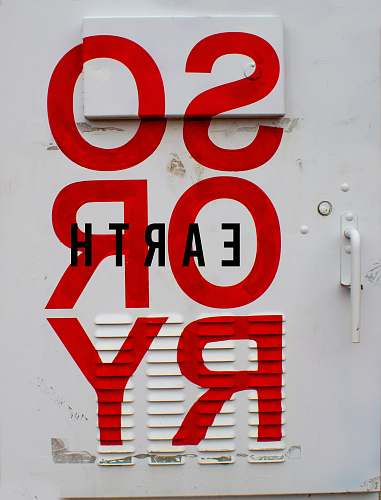 symbol red Sorry wall paint number