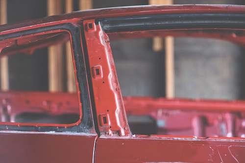 red red vehicle machine