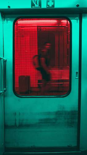 transportation person inside train vehicle