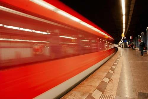 transportation photo of subway train station