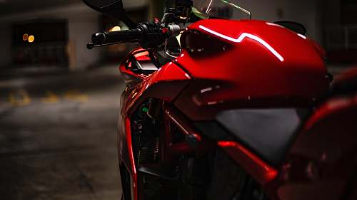 motorcycle red and black sports bike vehicle