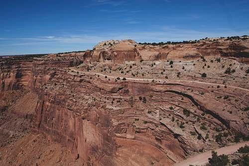 canyon brown canyon during daytime mountain