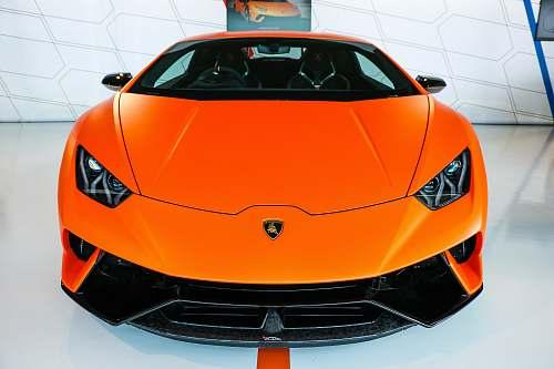 car orange car transportation