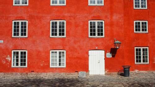 building closeup photo of red concrete building architecture