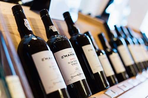 bottle selective-focus photo of vintage point bottle red wine
