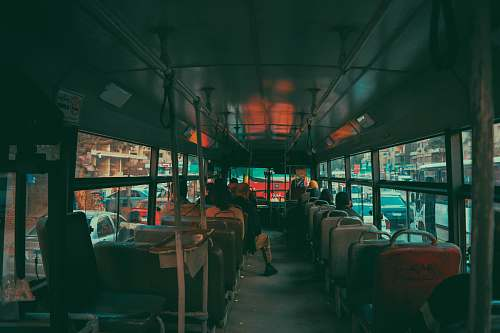 people people inside bus person