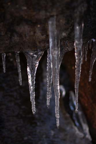 ice stalactites photograph outdoors