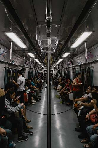 person people sitting inside train train