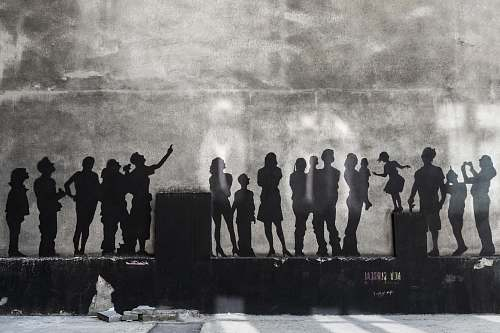 human silhouette of people wall art photo person