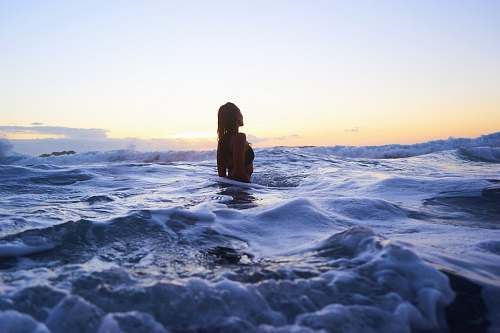 person woman in body of water human