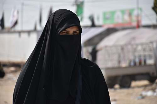people focus photography of women wearing black niqab human