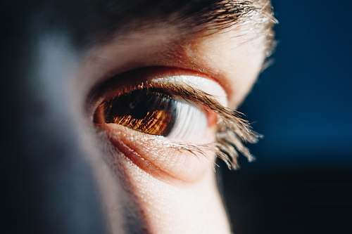 human person's right eye people