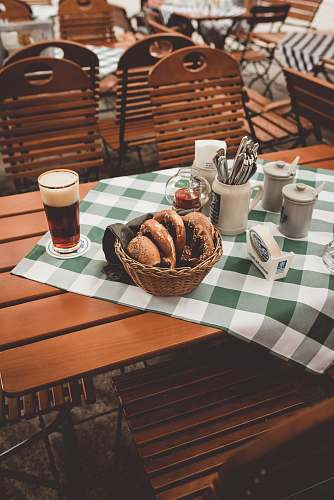 drink clear drinking glass beside doughnut germany
