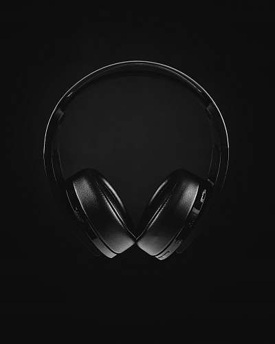 electronics black and white photo of headphones headset